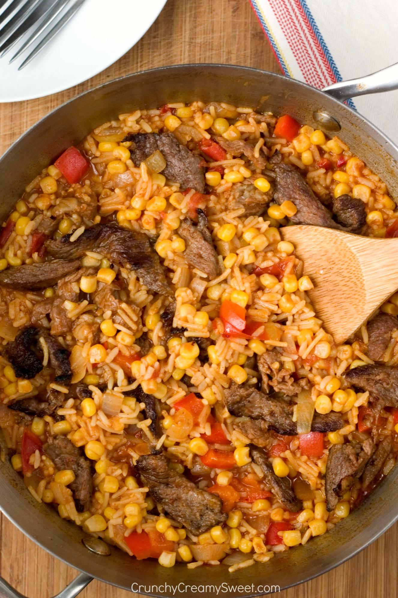Fiesta Fried Rice Crunchy Creamy Sweet