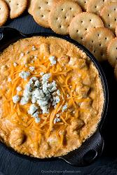 Hot Buffalo Chicken Dip - creamy, spicy and hot dip with all of the ...
