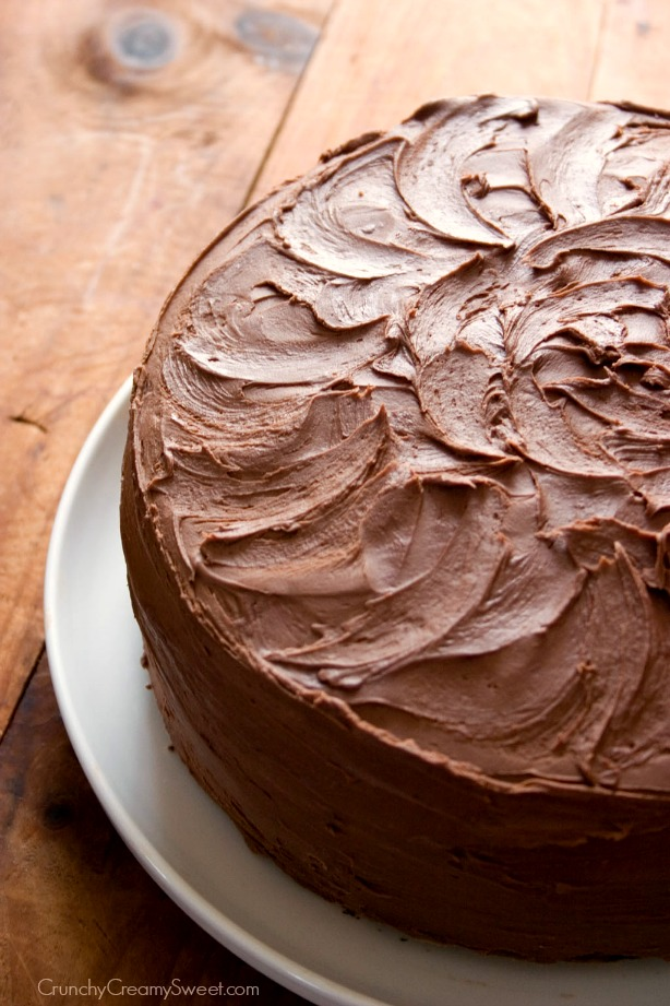 Chocolate Crunch Layer Cake With Milk Chocolate Frosting Recipes ...