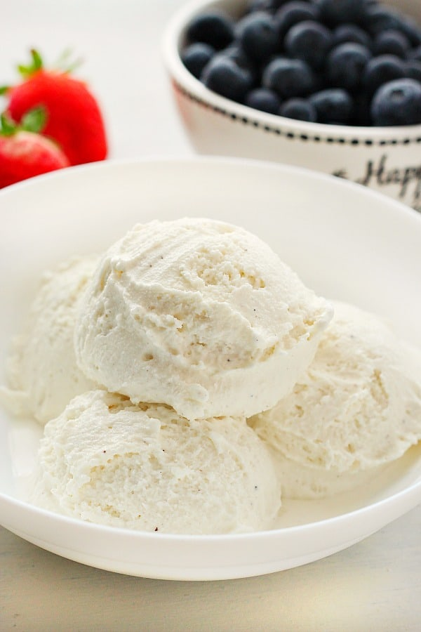 whipped milk ice cream no machine