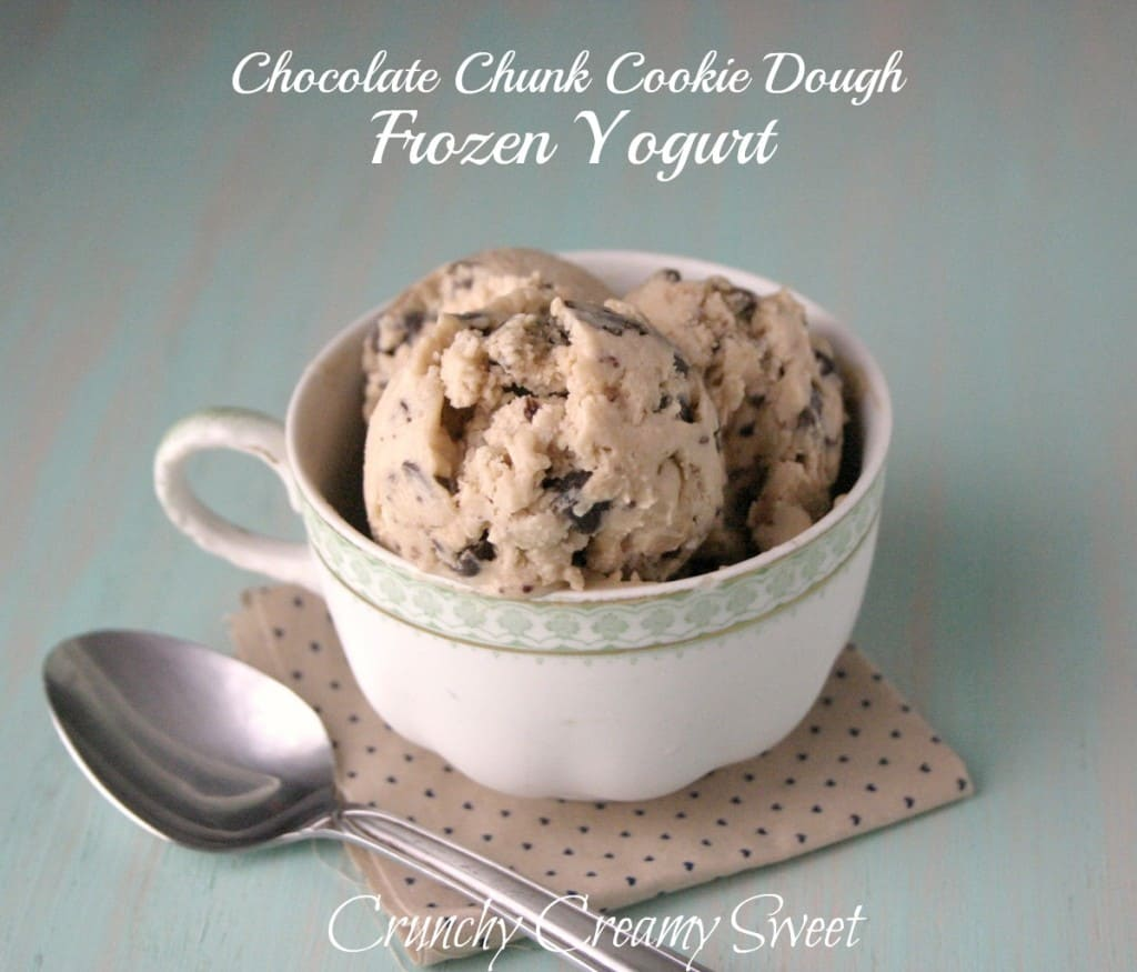 ccc froz yog 4 1024x875 CCC Monday: Chocolate Chunk Cookie Dough Frozen Yogurt