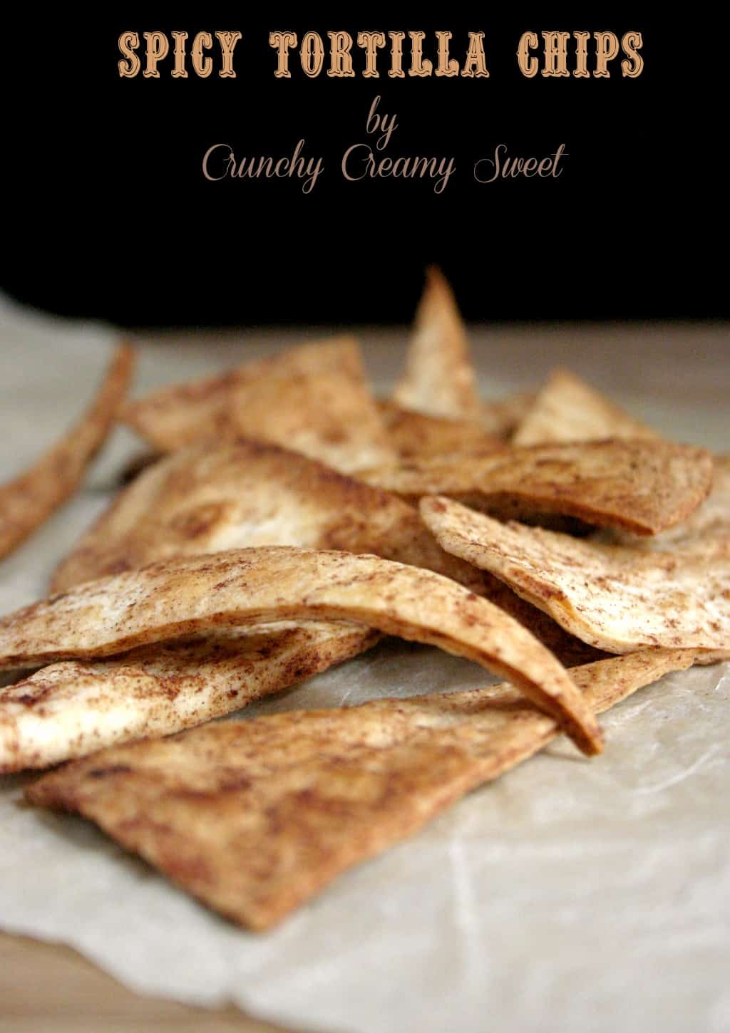 spicy tortilla chips 1 Spicy Tortilla Chips {baked}