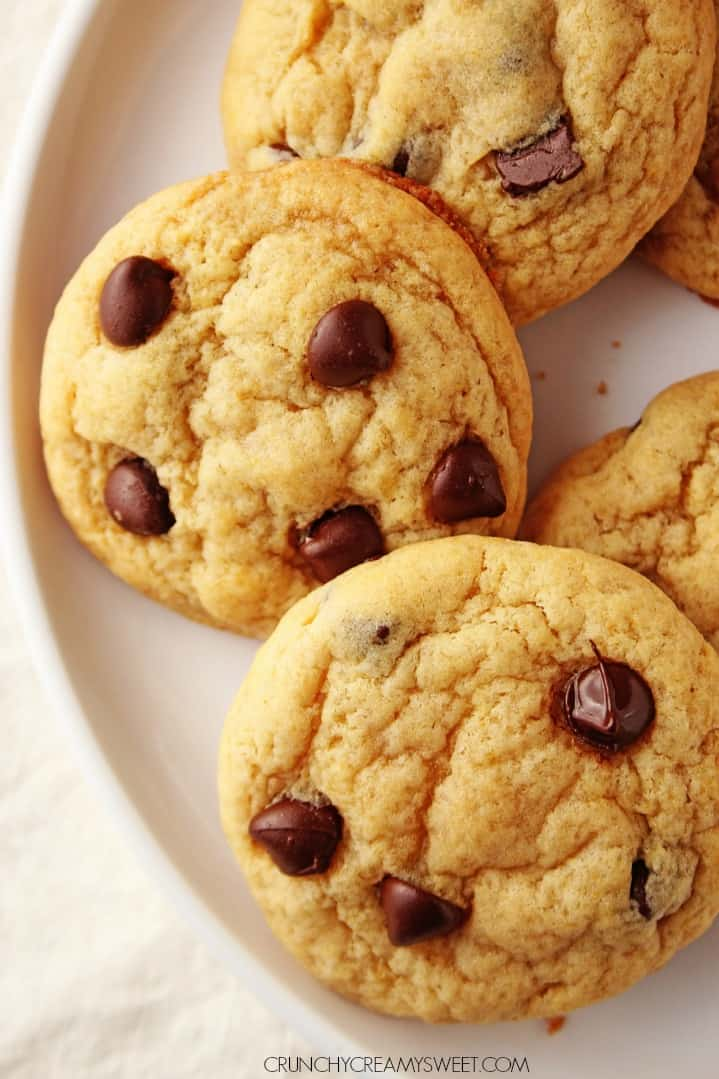 Pudding Chocolate Chip Cookies @crunchycreamysw Pudding Chocolate Chip Cookies