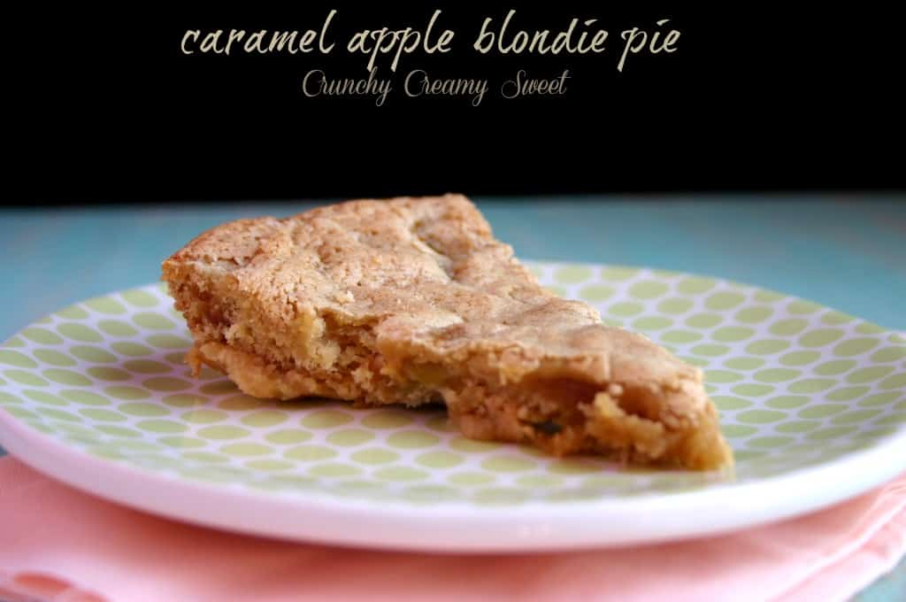 caramel apple blondie pie 11 Caramel Apple Blondie Pie