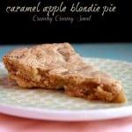caramel apple blondie pie 11 150x150 Caramel Apple Blondie Pie
