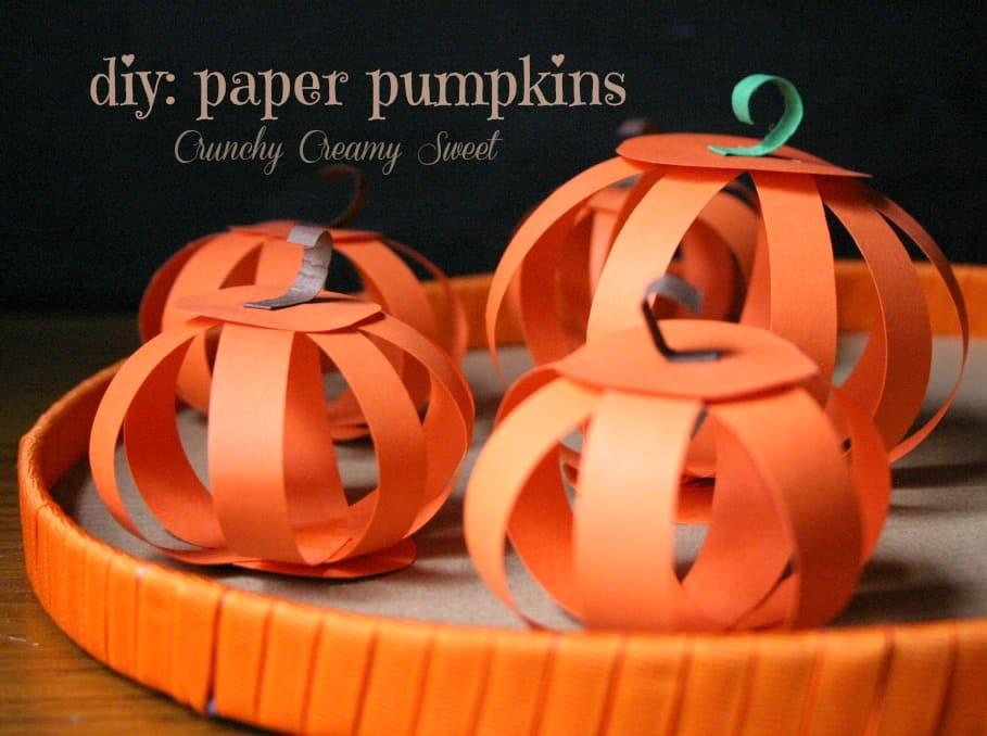 paper pumpkins 1 DIY: Paper Pumpkins