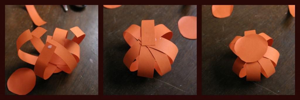 paper pumpkins collage 4 1024x341 DIY: Paper Pumpkins