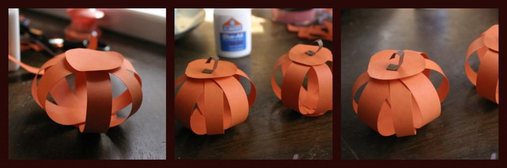 paper pumpkins collage 5 1024x341 DIY: Paper Pumpkins