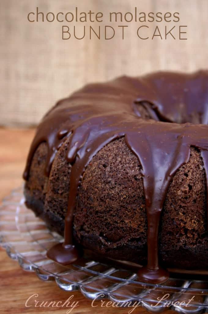 molasses bundt cake 1a Triple Chocolate Molasses Bundt Cake + GIVEAWAY!!!
