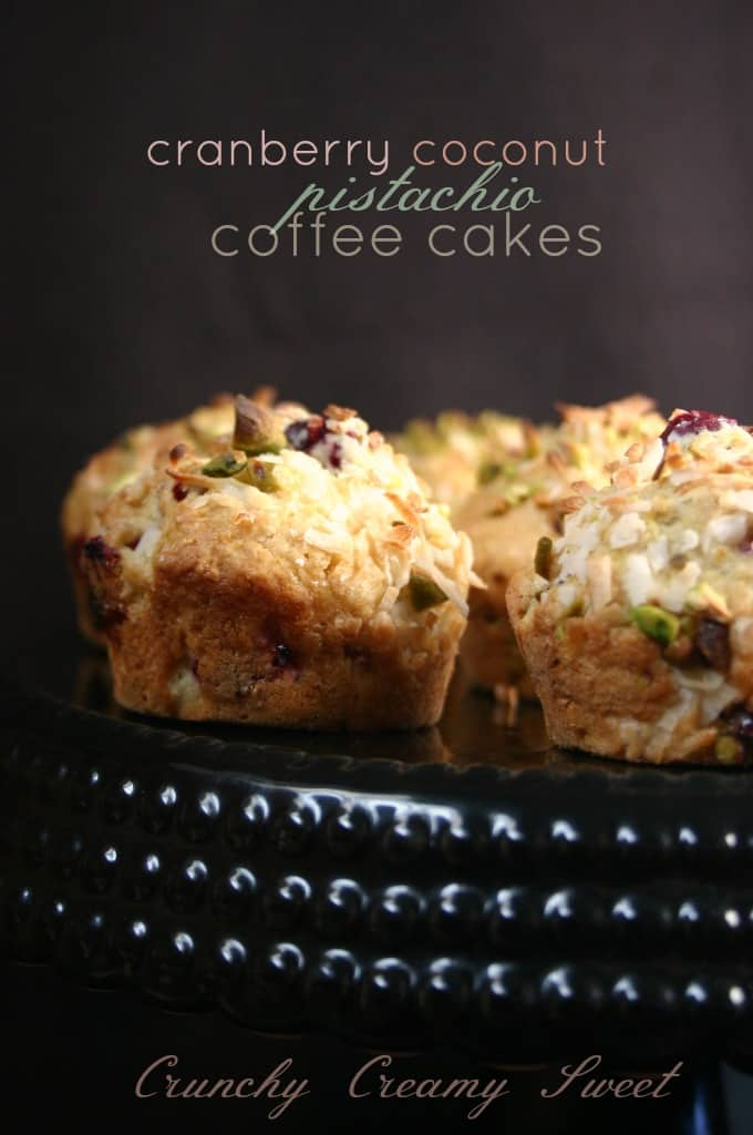 pistachio cakesn 1 Cranberry Coconut Pistachio Coffee Cakes