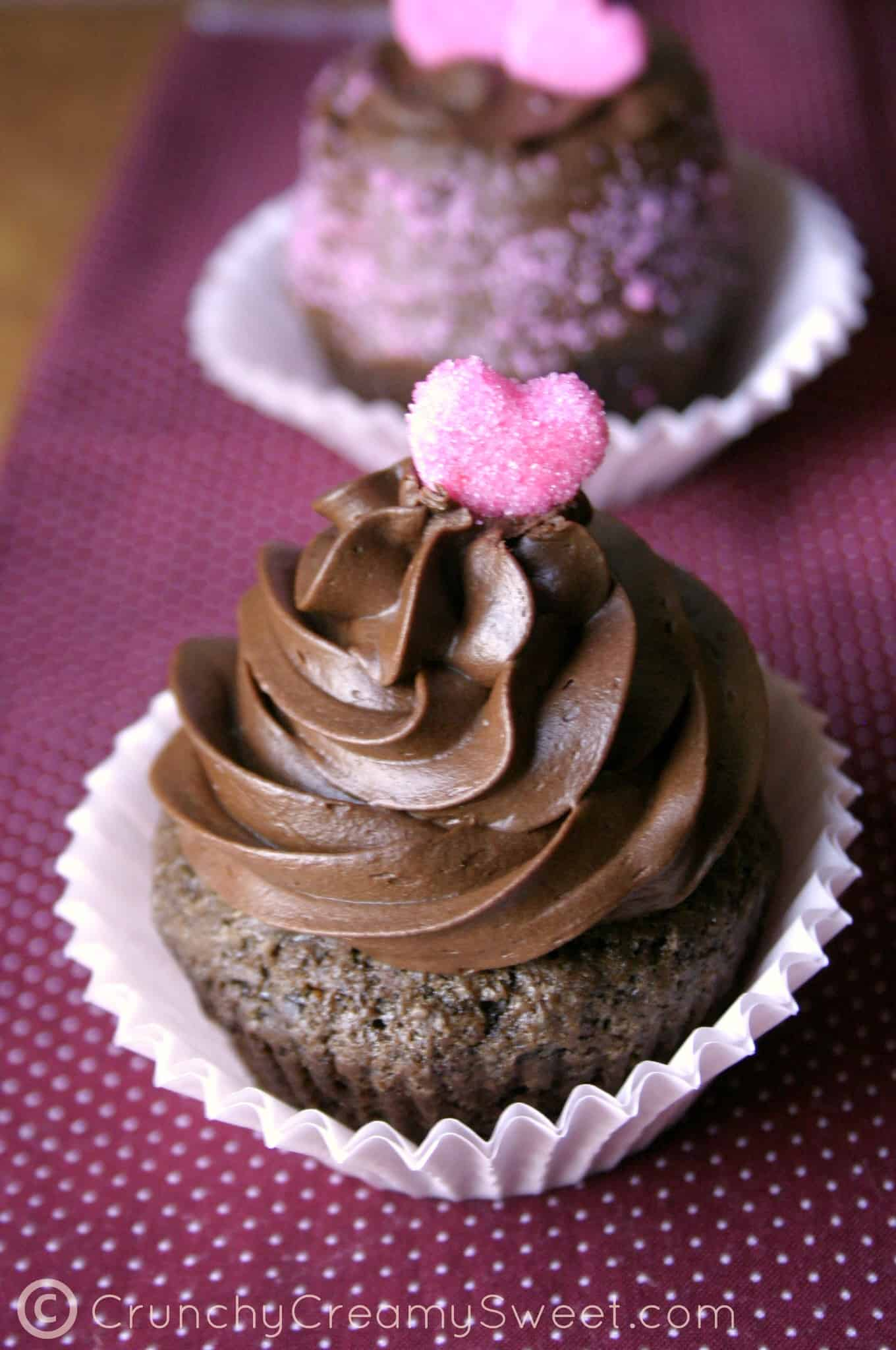 chocolate cupcakes for two B Chocolate Cupcakes For Two   Valentines Day Celebration Event