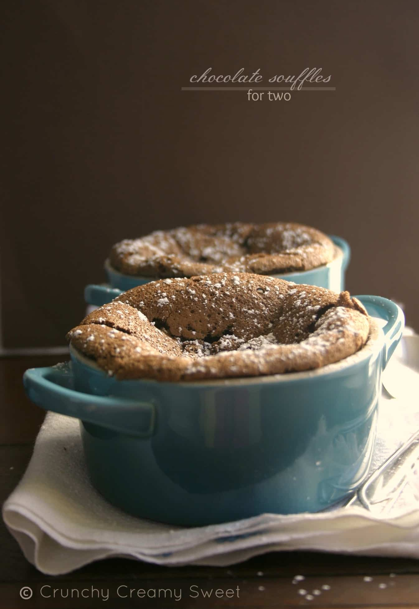 chocolate souffles 11 FINALE: Chocolate Souffles for Two and Le Creuset Giveaway!!