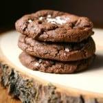 Chocolate Fudge Cookies with Sea Salt CrunchyCreamySweet.com