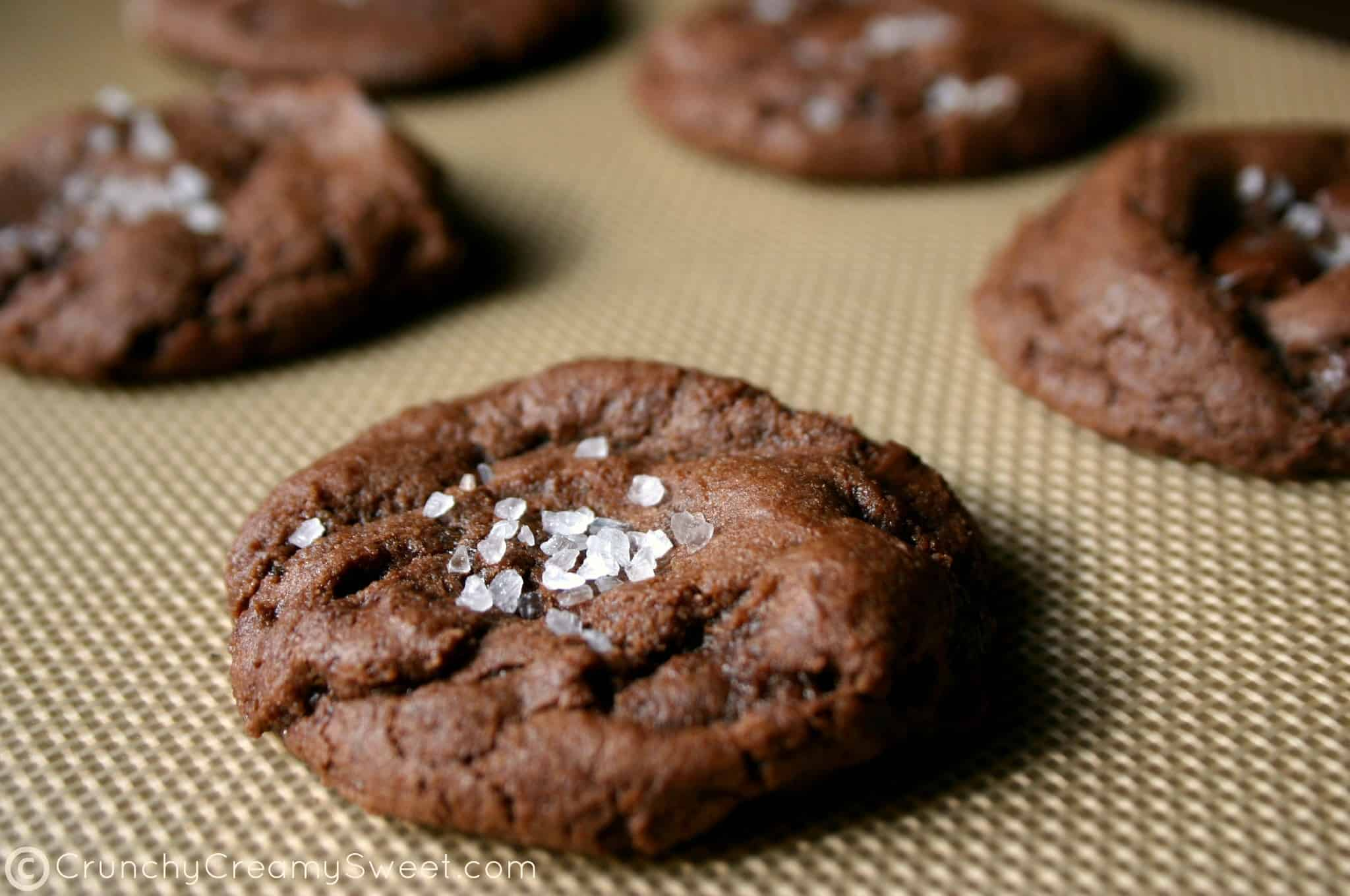 fudge cookies 4a Chocolate Fudge Cookies with Sea Salt + GIVEAWAY!