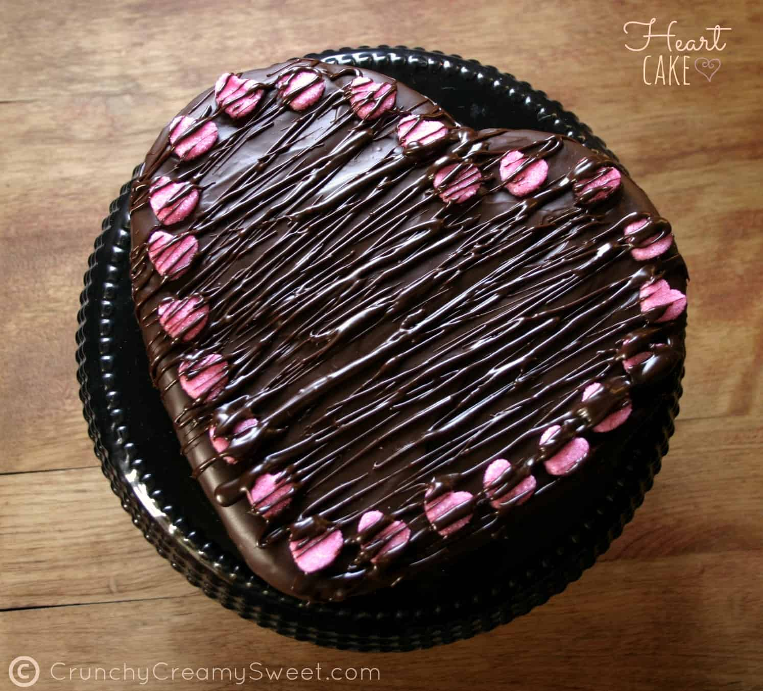 Heart Chocolate Cake Images : Chocolate Ganache Cake Recipe   Dishmaps