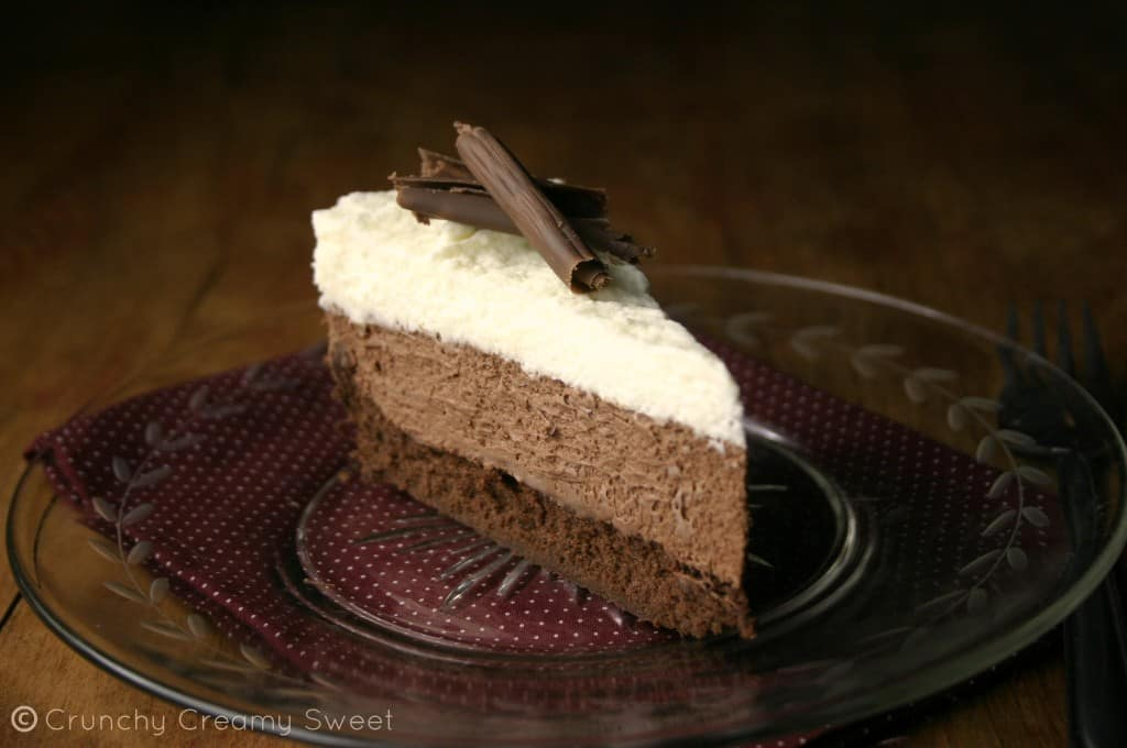mousse cake 8 1024x680 Triple Chocolate Mousse Cake