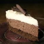 triple mousse 6 150x150 Triple Chocolate Mousse Cake Recipe Card