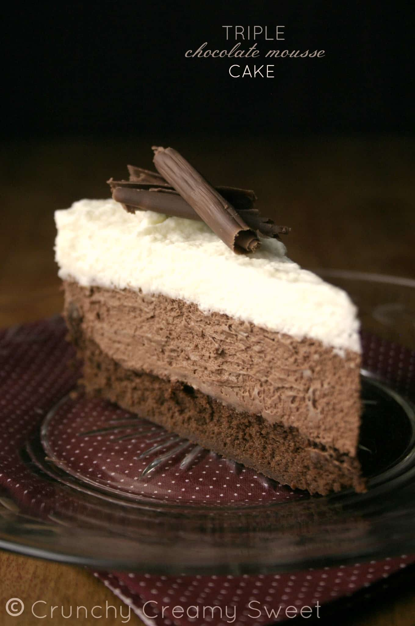 triple mousse 6 Triple Chocolate Mousse Cake