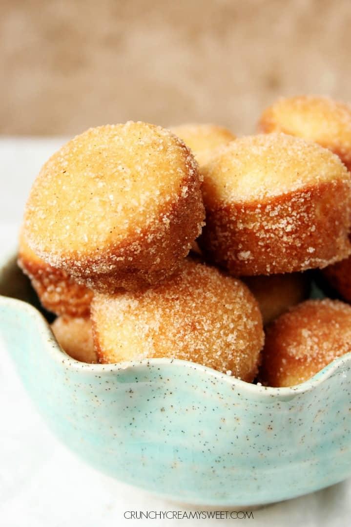 Cinnamon Sugar Mini Donut Muffins Glazed Chocolate Donuts Recipe