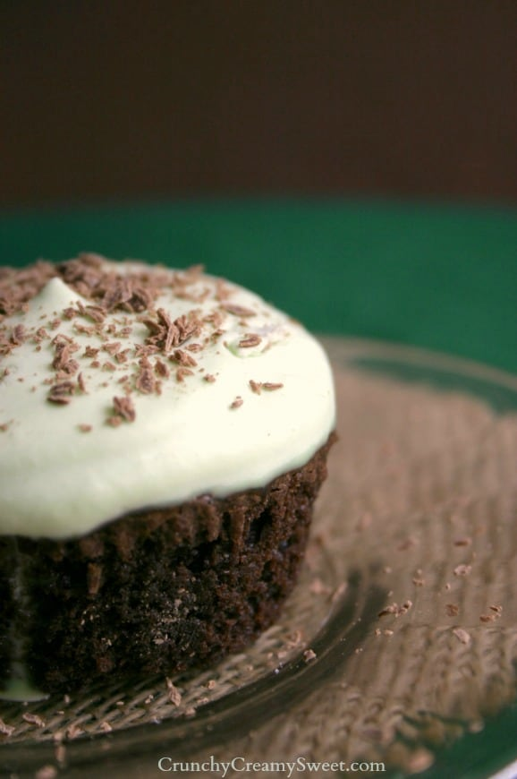 brownie cupcakes 1 Fudgy Brownie Cupcakes with fresh whipped cream mint topping