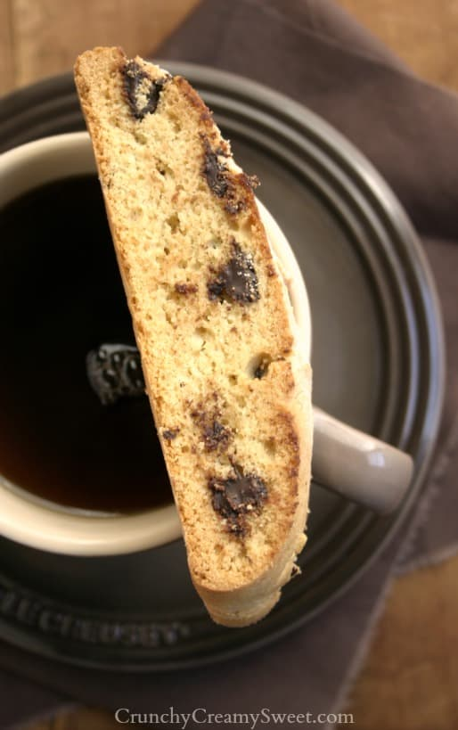 cc biscotti 2 Chocolate Chip Biscotti