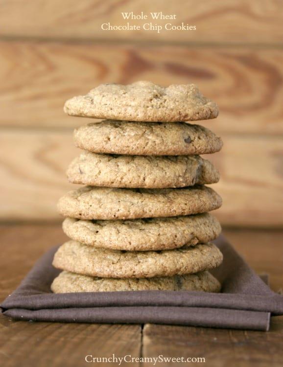 ww choc chip cookies 1 Whole Wheat Chocolate Chip Cookies