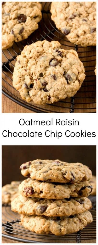 Oatmeal Raisin Chocolate Chip Cookies big and chewy  409x1024 Oatmeal Raisin Chocolate Chip Cookies