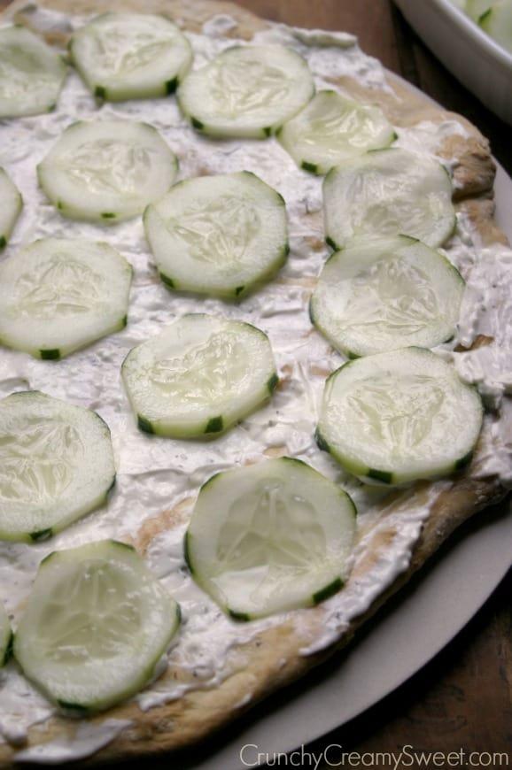 flatbread 2 Tzatziki Flatbread Pizza