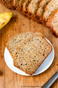 Whole Wheat Yogurt Banana Bread with Cinnamon  200x300 What to do with over ripe bananas (recipe round up)