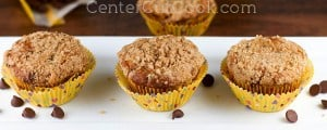 banana chocolate chip muffin 300x120 What to do with over ripe bananas (recipe round up)
