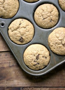 banana muffins 11 218x300 What to do with over ripe bananas (recipe round up)