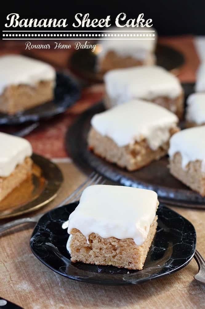 Banana Recipes no Bake Banana Sheet Cake Recipe 3
