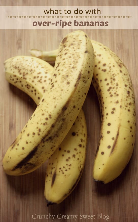 bananas 1 What to do with over ripe bananas (recipe round up)