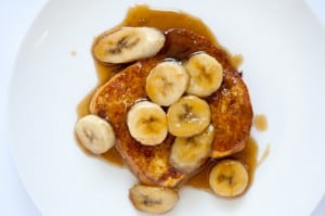 bananas foster french toast recipe 300x199 What to do with over ripe bananas (recipe round up)