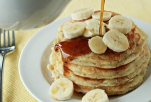 fluffy banana pancakes 2 300x204 What to do with over ripe bananas (recipe round up)