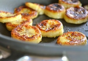 fried honey bananas 300x207 What to do with over ripe bananas (recipe round up)