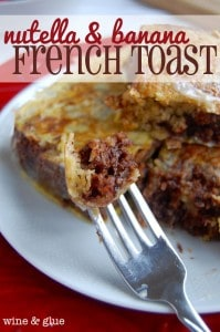 nutella french toast recipe 199x300 What to do with over ripe bananas (recipe round up)