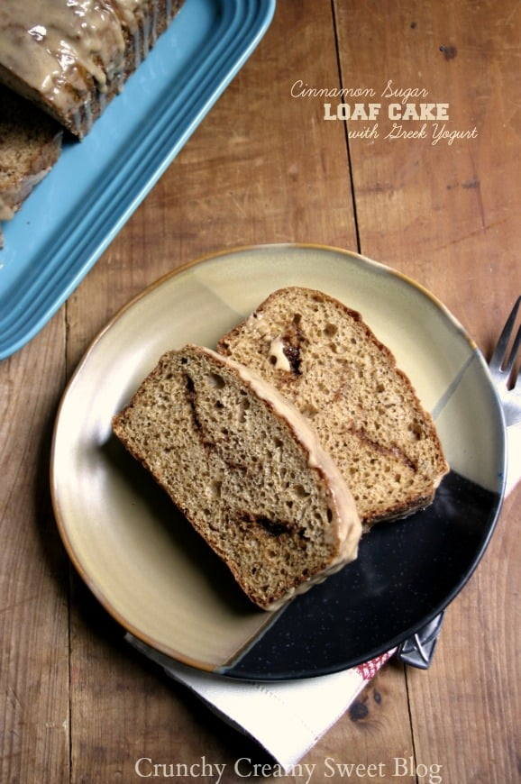 cinnamon loaf cake with yigurt 1 Glazed Cinnamon Sugar Loaf Cake {with Greek yogurt}