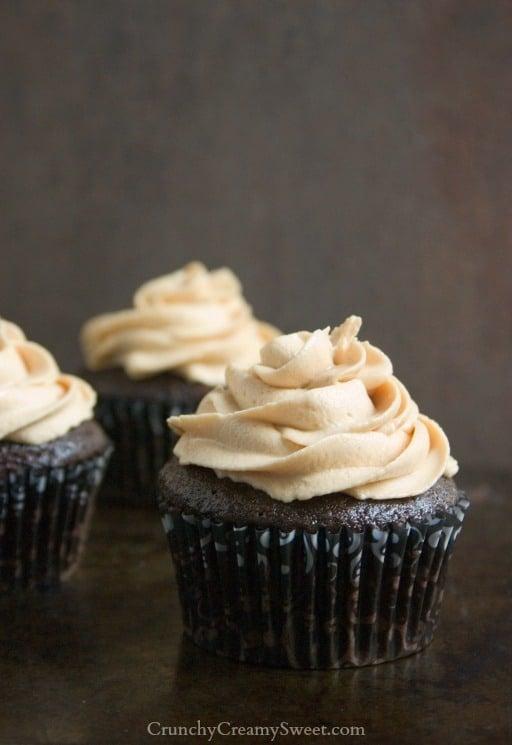 peanut butter surprise chocolate cupcakes 21 Peanut Butter Surprise Chocolate Cupcakes #OXOGoodCupcake