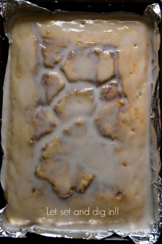setting glaze Cinnamon Roll Cake (from scratch) Recipe