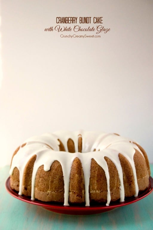cranberry bundt cake 1a Cranberry Bundt Cake with White Chocolate Glaze Recipe