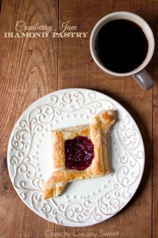 diamond pastry 1 Cranberry Jam Diamond Pastry
