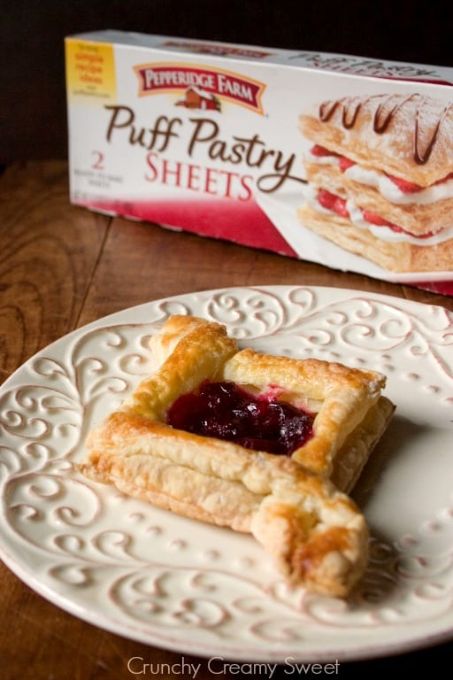 puff pastry 2 Cranberry Jam Diamond Pastry