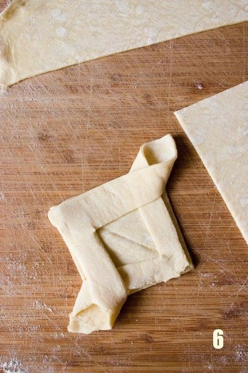 step 6 Cranberry Jam Diamond Pastry