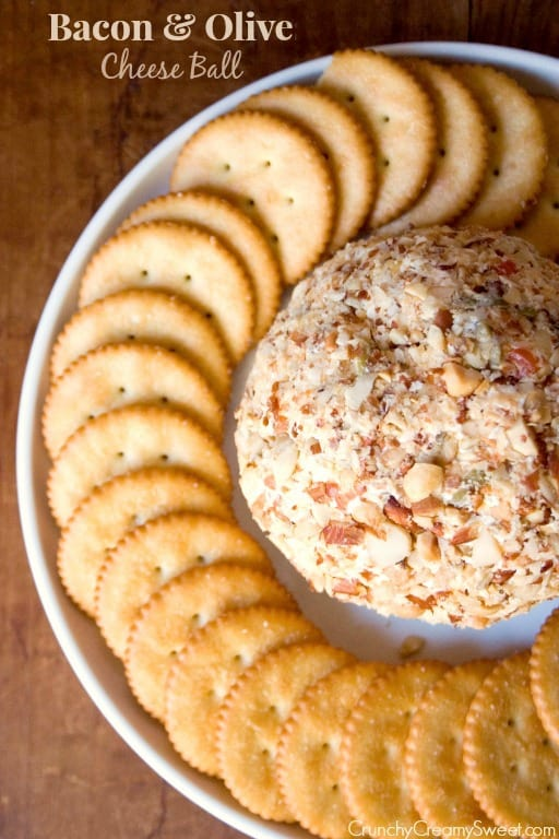Bacon Olives Cheese Ball1 Bacon and Olive Cheese Ball Recipe