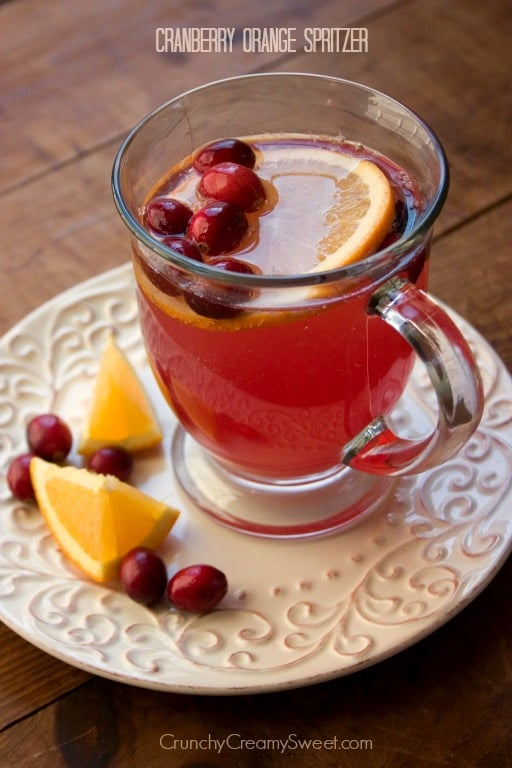 Cranberry Orange Spritzer Orange Cranberry Spritzer Recipe