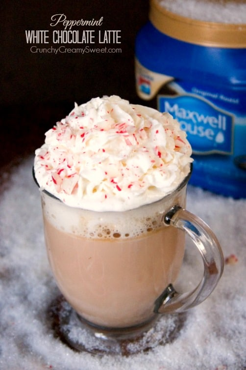 Peppermint White Chocolate Latte Peppermint White Chocolate Latte Recipe