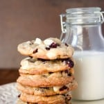 cranberry cookies with white chocolate 150x150 White Chocolate Cranberry Cookies Recipe
