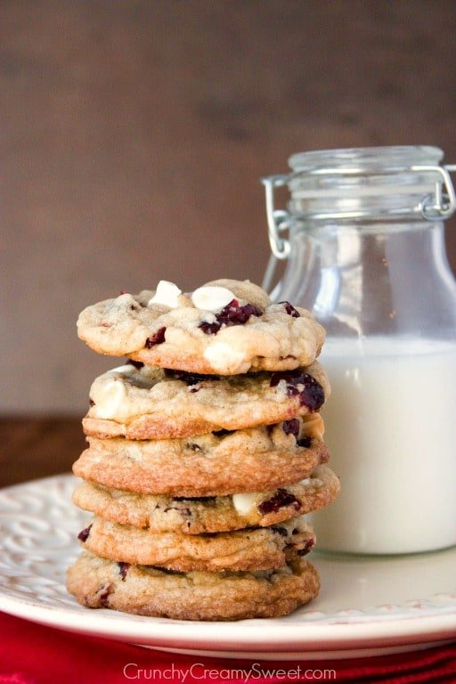 cranberry cookies with white chocolate White Chocolate Cranberry Cookies Recipe
