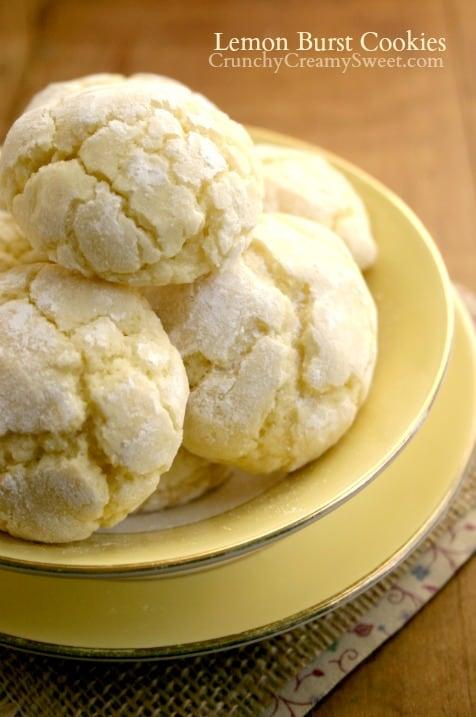 lemon cookies 1 Lemon Burst Cookies From Scratch Recipe Card